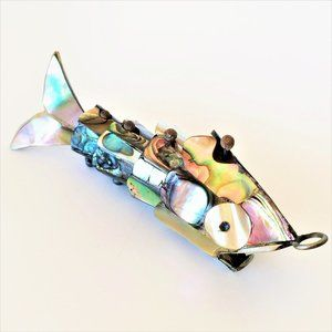 Abalone Fish Pendant *Articulated Movable Segments